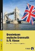 Cover-Bild zu Grundwissen englische Grammatik - 5./6. Klasse von Bojes, Manfred