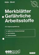 Cover-Bild zu 372. Ergänzungslieferung - Merkblätter gefährliche Arbeitsstoffe
