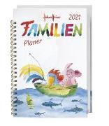 Cover-Bild zu Helme Heine Familienplaner Buch A5 Kalender 2021 von Heine, Helme