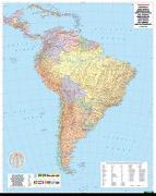 Cover-Bild zu Südamerika Politisch, 1:8 Mio., Poster, metallbestäbt. 1:8'000'000