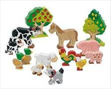 Cover-Bild zu Bauernhoftiere farbig
