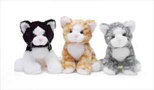 Cover-Bild zu Plüsch Katze 23 cm. Grau, orange oder S/W