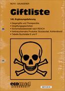 Cover-Bild zu 140. Ergänzungslieferung - Giftliste