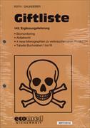 Cover-Bild zu 142. Ergänzungslieferung - Giftliste