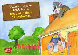 Cover-Bild zu Bildkarten für unser Erzähltheater: Die drei kleinen Schweinchen von Lefin, Petra (Illustr.)