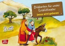 Cover-Bild zu Kamishibai Bildkartenset Jesus wird geboren von Lefin, Petra (Illustr.)