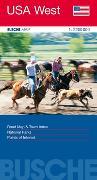 Cover-Bild zu USA West. 1:2'200'000 von Busche Verlagsgesellschaft mbH (Hrsg.)