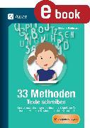 Cover-Bild zu 33 Methoden Texte schreiben (eBook) von Pohlmann, Stefanie
