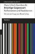 Cover-Bild zu Gumbrecht, Hans Ulrich: Brüchige Gegenwart