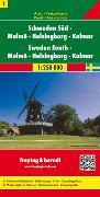 Cover-Bild zu Schweden Süd - Malmö - Helsingborg - Kalmar, Autokarte 1:250.000. 1:250'000