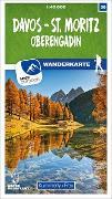 Cover-Bild zu Davos - St. Moritz / Oberengadin 36 Wanderkarte 1:40 000 matt laminiert. 1:40'000