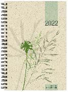 Cover-Bild zu Wochenbuch Motiv Gras 2022 - 1W/2S - 13,7x19,6 - aus Graspapier - 4-sprachig - Büro-Kalender - 759-0640-1
