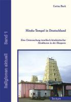 Cover-Bild zu Back, Carina: Hindu-Tempel in Deutschland