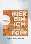 Cover-Bild zu Foer, Jonathan Safran: Hier bin ich (DAISY Edition)