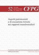 Cover-Bild zu Aspetti patrimoniali e di esecuzione forzata nei rapporti transfrontalieri