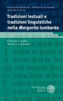 Cover-Bild zu Tradizioni tesstuali e tradizioni linguistische nella Margarita lombarda