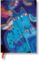 Cover-Bild zu Katzen in Blau mit Schmetterlingen Mini liniert