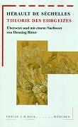 Cover-Bild zu Theorie des Ehrgeizes von Hérault de Séchelles, Marie-Jean
