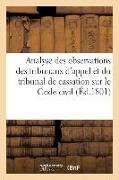 Cover-Bild zu Analyse Des Observations Des Tribunaux d'Appel Et Du Tribunal de Cassation Rapprochées Du Texte von Herault -J