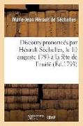 Cover-Bild zu Discours Prononcés Par Hérault-Séchelles, Le 10 Auguste 1793 À La Fète de l'Unité von Herault de Sechelles-M-J