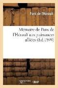 Cover-Bild zu Mémoire de Pons de l'Hérault Aux Puissances Alliées von Pons de L'Herault