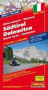 Cover-Bild zu Südtirol-Dolomiten MotoMap Motorradkarte 1:250 000 / 1:650 000. 1:250'000