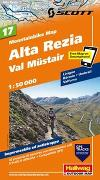 Cover-Bild zu Alta Rezia, Val Müstair Mountainbike-Karte Nr. 17, 1:50 000. 1:50'000