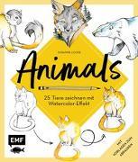 Cover-Bild zu Loose, Susanne: Animals - 25 Tiere zeichnen mit Watercolor-Effekt