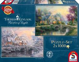 Cover-Bild zu Thomas Kinkade, Lamplight Manour/Winter in Lamplight Manour. Puzzle 2 x 1.000 Teile
