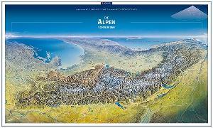Cover-Bild zu KOMPASS Panorama Die Alpen von Norden, Poster