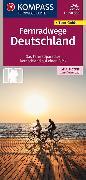 Cover-Bild zu KOMPASS Fernwegekarte Fernradwege Deutschland. 1:550'000