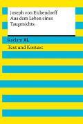 Cover-Bild zu von Eichendorff, Joseph: Aus dem Leben eines Taugenichts. Textausgabe mit Kommentar und Materialien