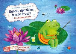 Cover-Bild zu Wagner, Elisabeth: Quacki, der kleine freche Frosch. Kamishibai Bildkartenset