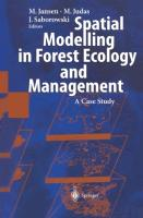 Cover-Bild zu Jansen, Martin (Hrsg.): Spatial Modelling in Forest Ecology and Management