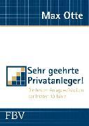 Cover-Bild zu Sehr geehrte Privatanleger! (eBook) von Otte, Max