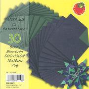 Cover-Bild zu Papier Mix für Bascetta Stern Blau-Grün Duo Color 15x15cm