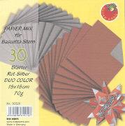 Cover-Bild zu Papier Mix für Bascetta Stern Rot-Silber Duo Color 15x15cm