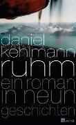 Cover-Bild zu Kehlmann, Daniel: Ruhm