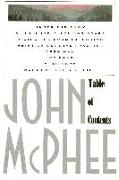 Cover-Bild zu McPhee, John: Table of Contents