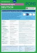 Cover-Bild zu PONS Redewendungen auf einen Blick Deutsch