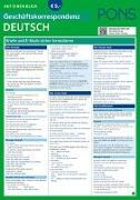 Cover-Bild zu PONS Geschäftskorrespondenz auf einen Blick Deutsch