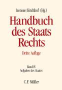 Cover-Bild zu Axer, Peter: Handbuch des Staatsrechts