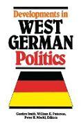 Cover-Bild zu Smith, Gordon (Hrsg.): Developments in West German Politics (eBook)