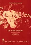 """Cover-Bild zu Mendelssohn Bartholdy, Felix (Komponist): Acht """"Lieder ohne Worte"""""""