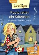 Cover-Bild zu Lesetiger - Meine beste Freundin Paula: Paula rettet ein Kätzchen von Reider, Katja