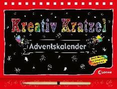 Cover-Bild zu Loewe Kratzel-Welt (Hrsg.): Kreativ-Kratzel-Adventskalender