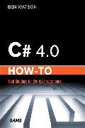 Cover-Bild zu C# 4.0 How-To von Watson, Ben