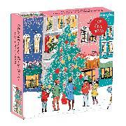Cover-Bild zu Galison (Geschaffen): Christmas Carolers Square Boxed 1000 Piece Puzzle