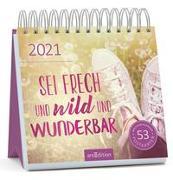 Cover-Bild zu Postkartenkalender Sei frech und wild und wunderbar 2021