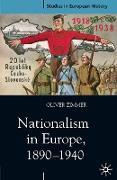 Cover-Bild zu Zimmer, Oliver: Nationalism in Europe, 1890-1940 (eBook)